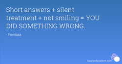 Short answers + silent 
