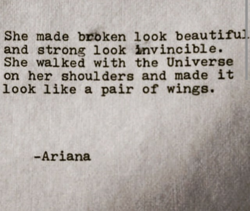 She made brbken look beautiful. 