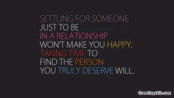 SEITLING FOR SOMEONE 