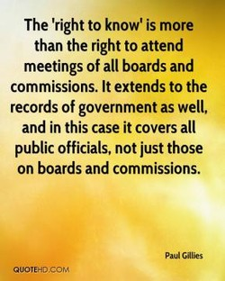 The 'right to know' is more 