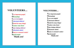 VOLUNTEERS... 