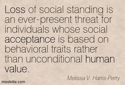Loss of social standing is 