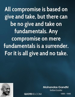 All compromise is based on 