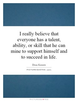 I really believe that 