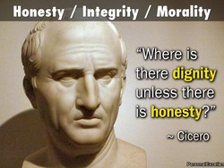 Honesty / Integrity / Morality 
