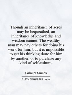 Though an inheritance of acres 