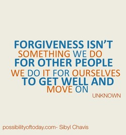 FORGIVENESS ISN'T 