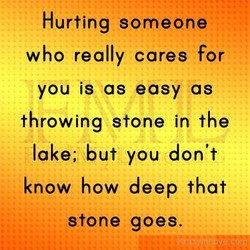 Hurting someone 