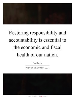 Restoring responsibility and 