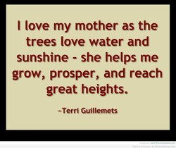 I love my mother as the 
