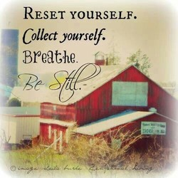 RESET YOURSELF. 