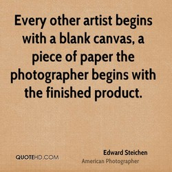 Every other artist begins 