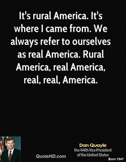 It's rural America. It's 