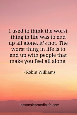 I used to think the worst 
