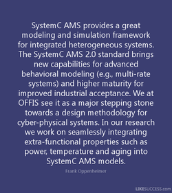 SystemC AMS provides a great 