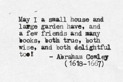 May I a house and 