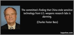 The committee's finding that China stole sensitive 