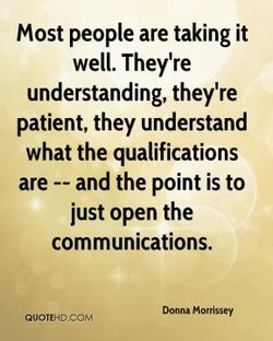 Most people are taking it 