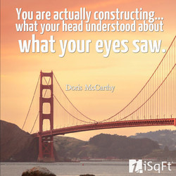 You are actually constructing... 