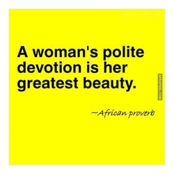 A woman's polite 