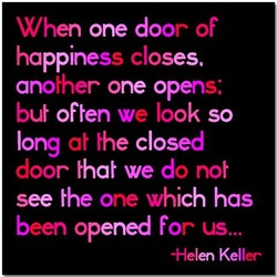 When one door of 