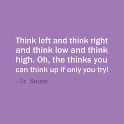 Think left and think right 