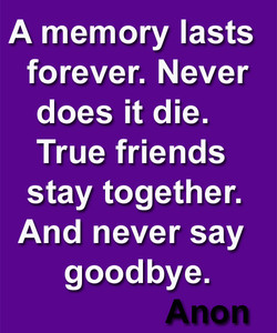 A memory lasts 