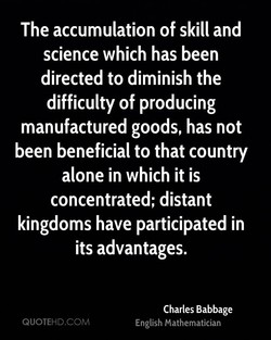 The accumulation of skill and 