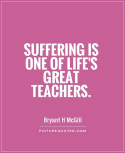 SUFFERING IS 