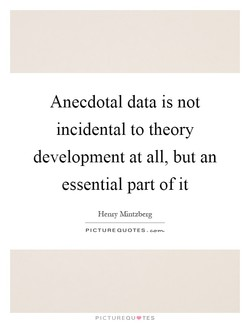 Anecdotal data is not 