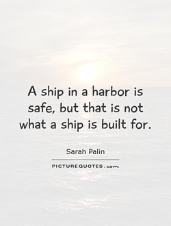 A ship in a harbor is 