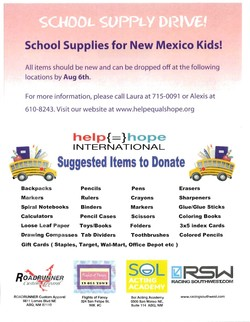 SCHOOL SUPPLY DRIVE! 