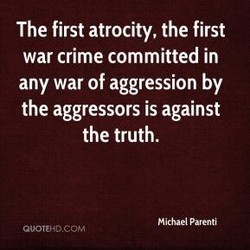 The first atrocity, the first 