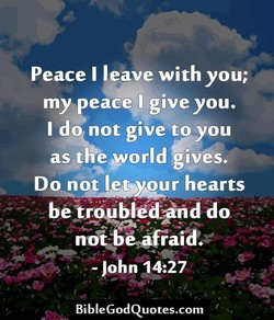 Peace I leave with you; 