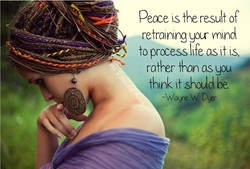 Peace (s the result of 