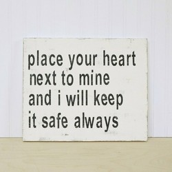 place your heart 