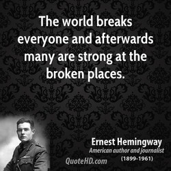 The world breaks 