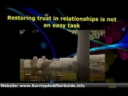 Restoring trust in relationships is not 