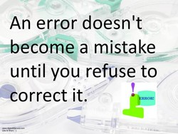 An error doesn't 