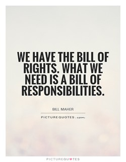 WE HAVE THE BILL OF 