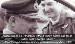 There will be no withdrawal without written orders and these 