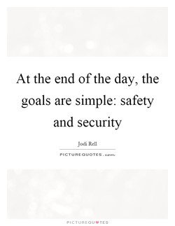 At the end of the day, the 