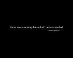 He who cannot obey himself will be commanded. 