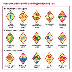 Iron-on Cadette Skill Building Badges t $1.50 