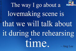 The way I go about a 