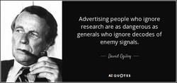 Advertising people who ignore 
