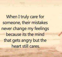 When I truly care for 