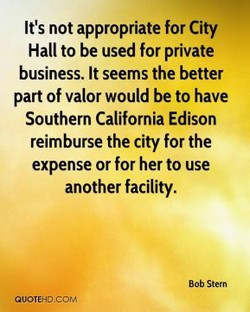 It's not appropriate for City 