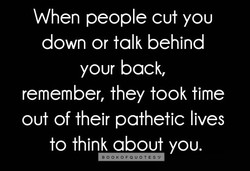 When people cut you 