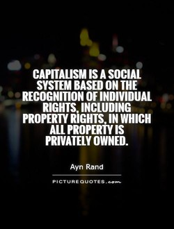 CAPITALISM IS A SOCIAL 